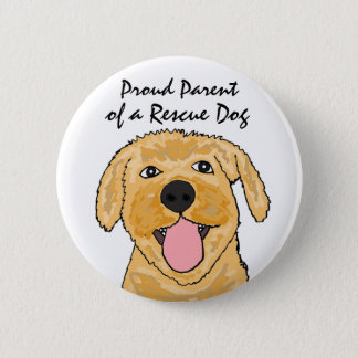 BL- Proud Parent of a Rescue Dog Button
