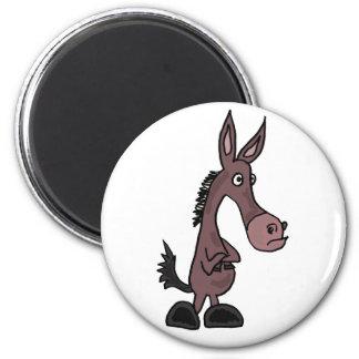 BL- Stubborn Mule Cartoon Magnet