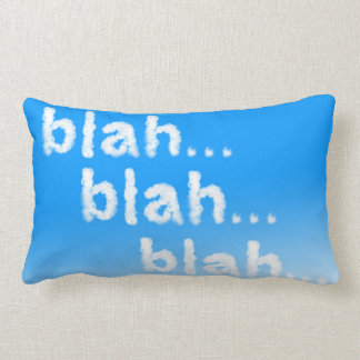 Bla bla bla pillow