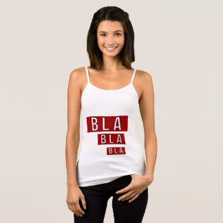Bla Bla Bla Red Tank Top