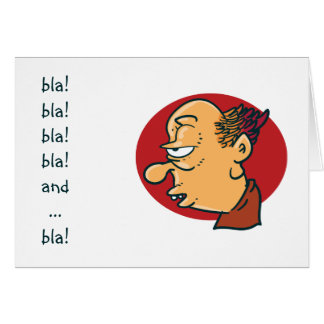 bla bla boring old guy funny cartoon card