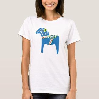 Blå Dalahäst   Dala horse blue T-Shirt