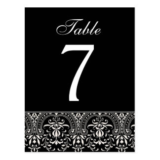 Blac and White Art Deco Wedding Table Number Card