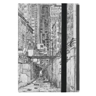 Blac&White. Hong Kong urban sketch. Kowloon iPad Mini Case