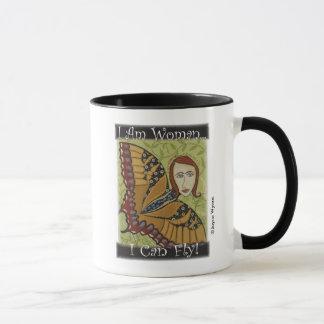 Black 11 oz Combo Mug-I Am Woman Butterfly Mug