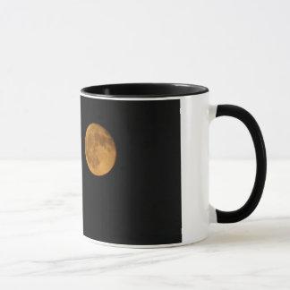 Black 11 oz Ringer Mug PHOTOGRAPH OF HARVEST MOON
