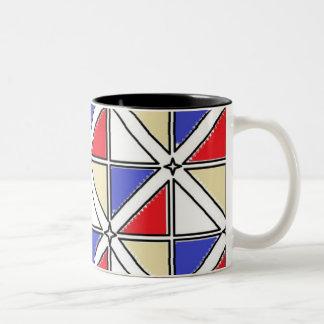 Black 11 oz Two-Tone Mug by Jennifer Shao