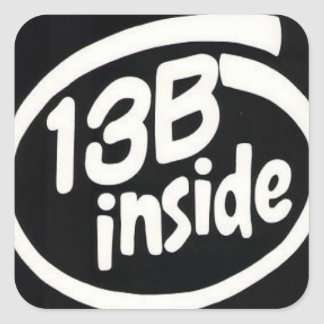 Black 13b Rotary Engine Stickers