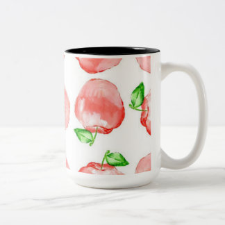 Black 15 oz Two-Tone Apple  Mug