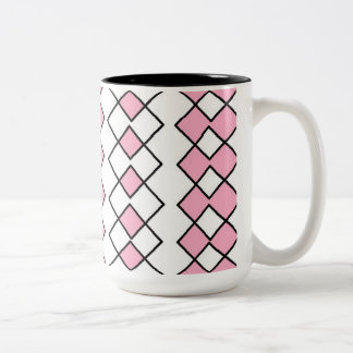 Black 15 oz Two-Tone Mug art by Jennifer Shao