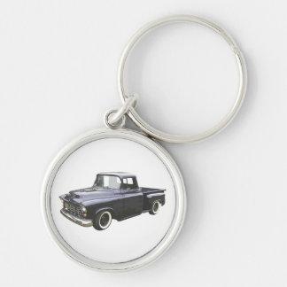 Black 1956 Chevrolet Pickup Keychain