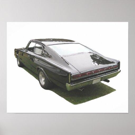Black 1967 Dodge Charger poster