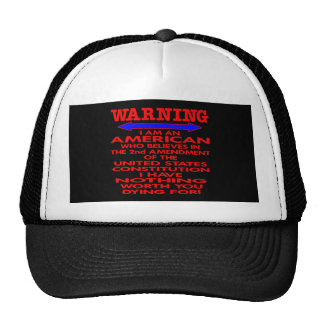 Black 2nd Amendment American Trucker Hat
