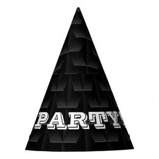 Black 3D mesh Party Hat