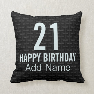 Black 3D mesh Throw Pillow