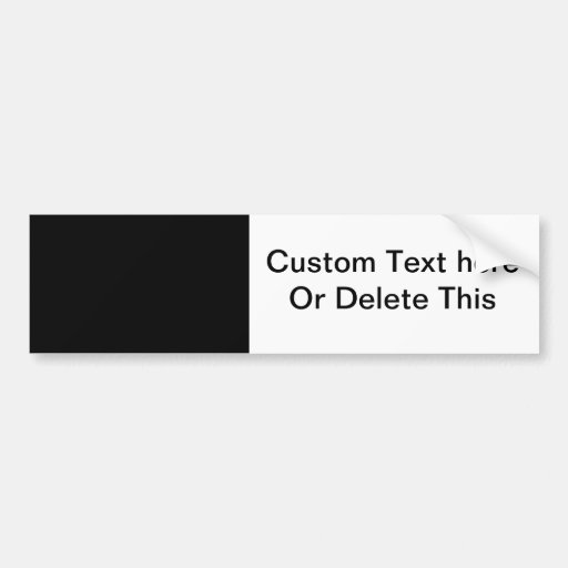 black 8 x 11 design your own product bumper sticker