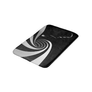 Black Abstract Bath Mat