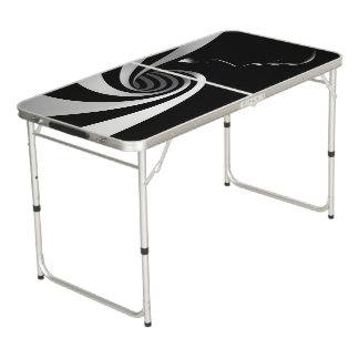 Black Abstract Beer Pong Table