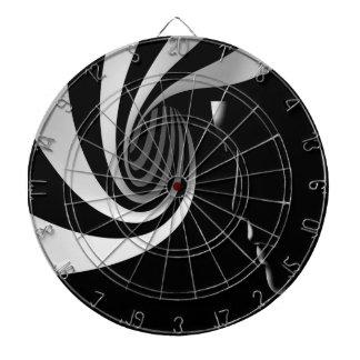 Black Abstract Dartboard
