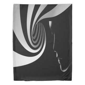 Black Abstract Duvet Cover