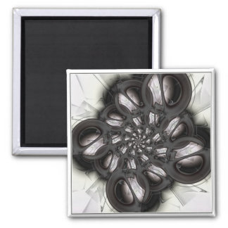 Black Abstract Magnet