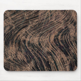 Black Abstract Marble Print Mouse Pad