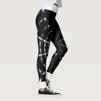 Black Abstract Movement Leggings