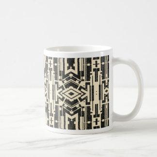 Black abstract coffee mugs