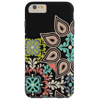 Black Abstract Print iPhone 6s/Plus Tough Case