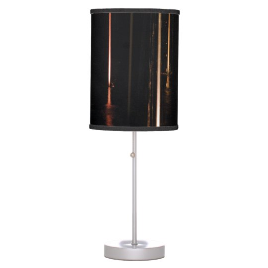 Black Abstract Table Lamp
