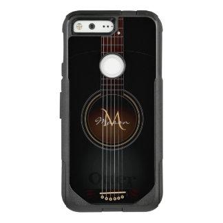 Black Acoustic Guitar Google Pixel Case