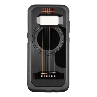 Black Acoustic Guitar OtterBox Commuter Samsung Galaxy S8 Case