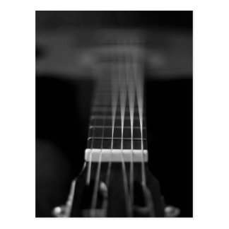 Black Acoustic Guitar Photo Postcard