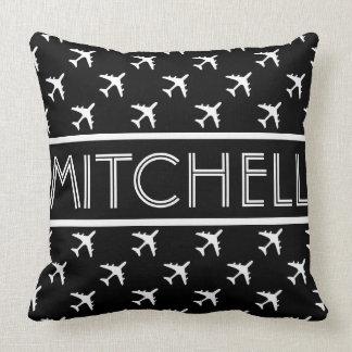 Black Aero BOF Personalized Throw Pillow