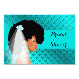 Black African American Bridal Shower Invitation