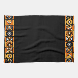 Black African Art Kitchen Towel