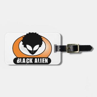 Black Afro Alien Bag Tag