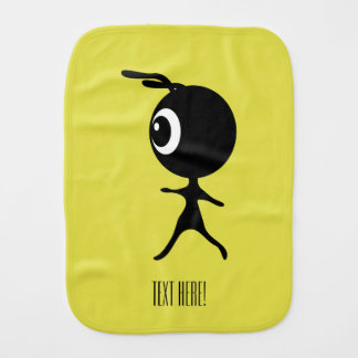 Black Alien Burp Cloth