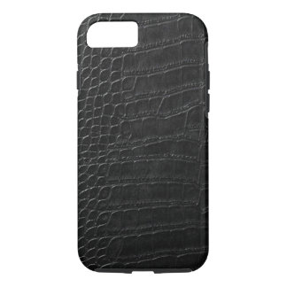 black alligator leather iPhone 8/7 case