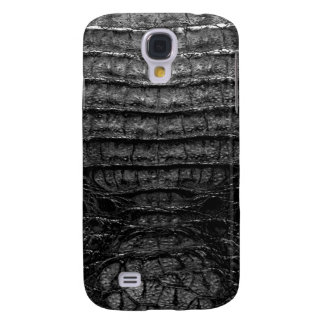 Black Alligator Skin Print