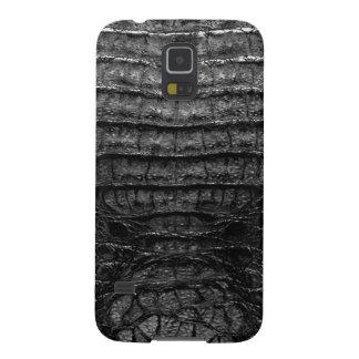 Black Alligator Skin Print Galaxy S5 Case