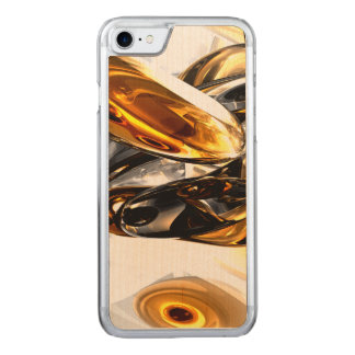 Black Amber Abstract Carved iPhone 8/7 Case