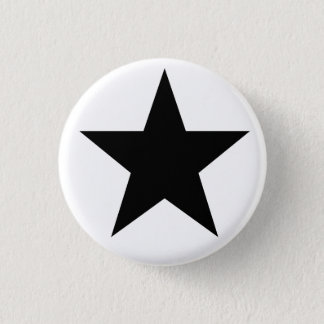 Black Anarchy star (classical) 1 Inch Round Button