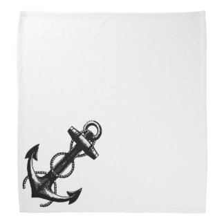 Black Anchor and Rope Kerchiefs