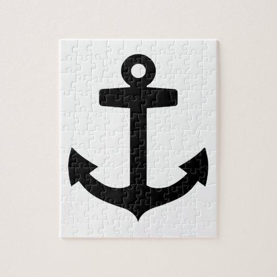 Black anchor jigsaw puzzle