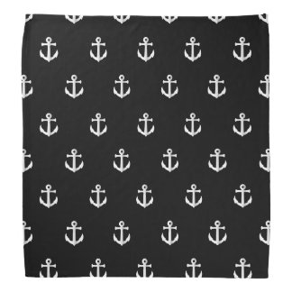 Black anchor pattern bandannas