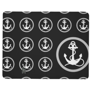 Black Anchors Pattern Journal
