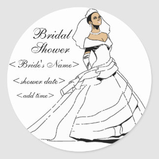 Black and Beautiful Classic Round Sticker