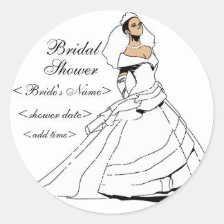 Black and Beautiful Round Sticker