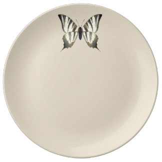 Black and Beige Butterfly Plate